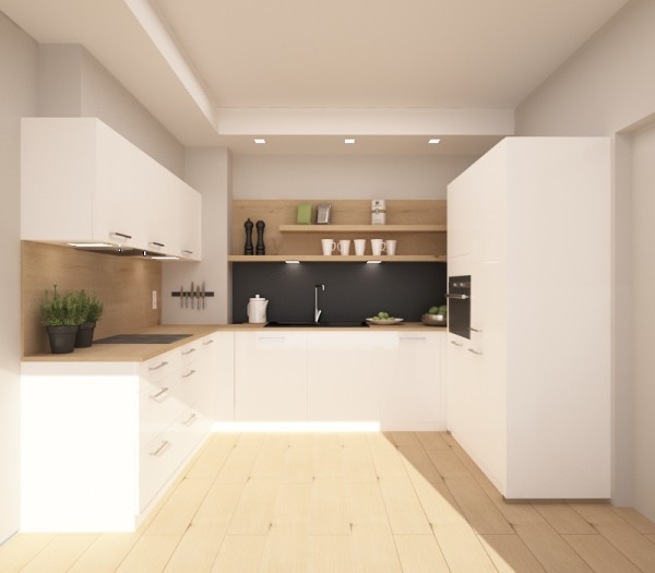 Kolekcja Lux kolor Biały + panel kredowy na ścianę